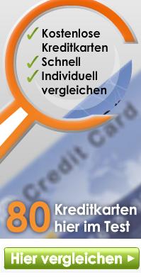 80 Kreditkarten im Kreditkarten-Vergleich