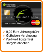 Fidor Prepaid Kreditkarte Tipp