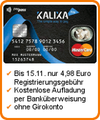 Kalixa Prepaid Kreditkarte Tipp